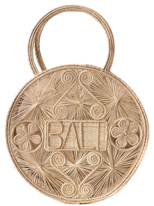 Natural colored bali palm bag