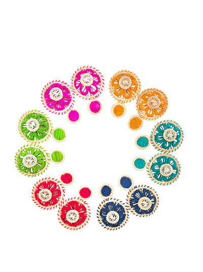 Chakra Handwoven Earrings
