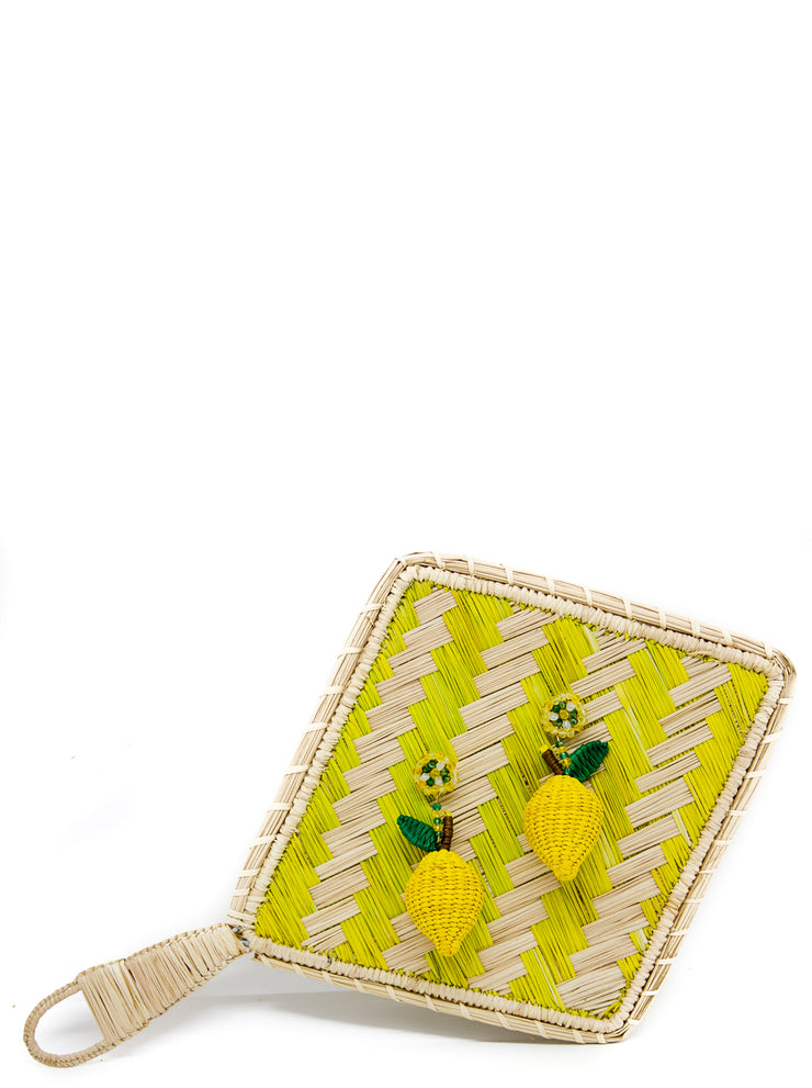 Lemon sorbet handmade palm earrings