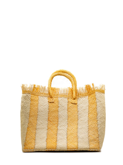 Talk to The Palm Striped Tote