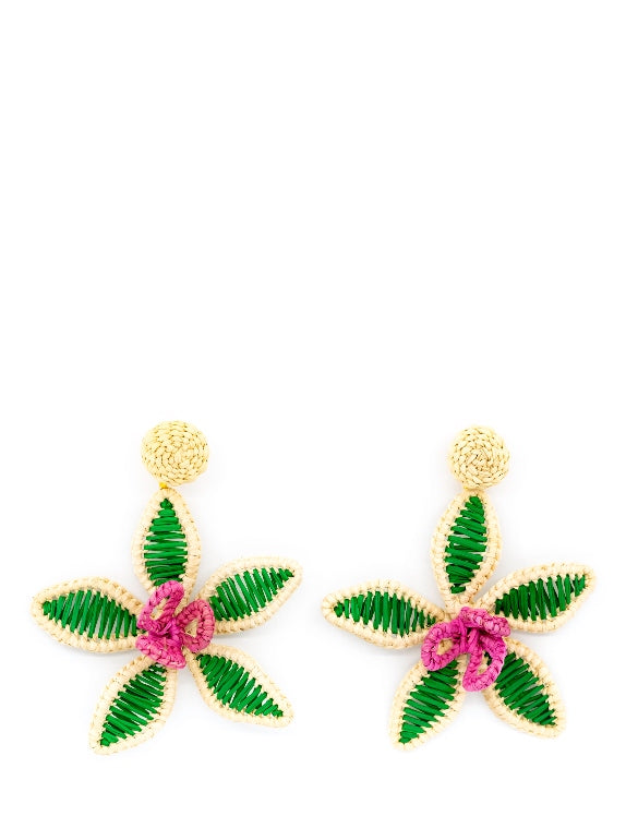Palm Purity Orchid Earrings
