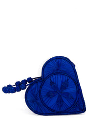 "Handwoven Royal Blue Love Heart ""Mary Kate"" Handbag"