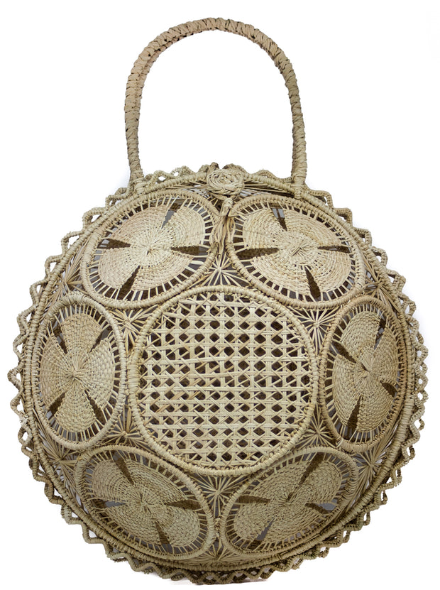 "Beautifully Designed Handmade Panera Basket Handbag Naturally Colored. Handmade with Love in South America, by Women and for Women. Chic and Stylish for Any Occasion. •Size 15.35"" x 15.5""  • Handle 4.72"" x 5"""