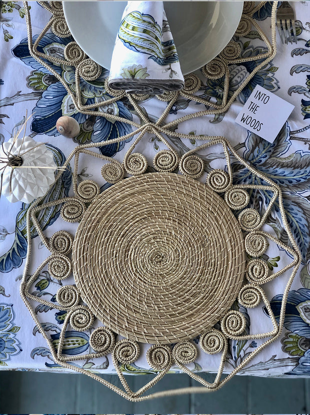 Natural Colored Handmade Palm Placemat