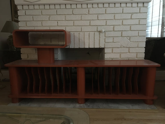 Vintage Audio Rack with LP Storage