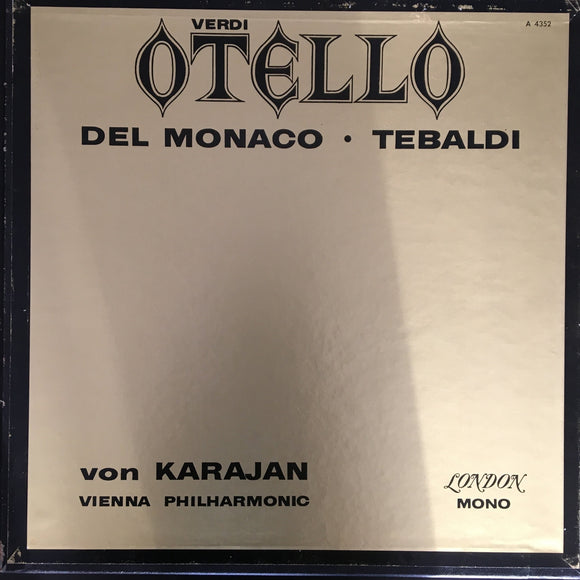 Giuseppe Verdi: Otello 3 x LP mono box set and 28 page booklet / libretto