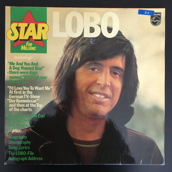 Lobo: Star for Millions LP, gatefold