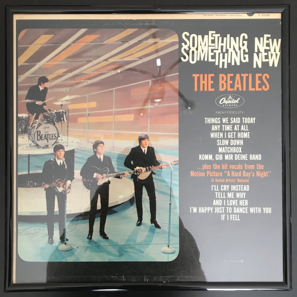 Framed Beatles Album Cover: Something New
