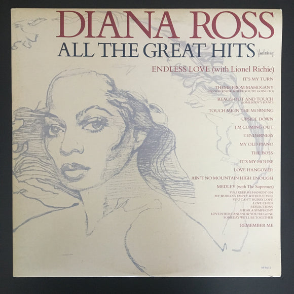 Diana Ross: All the Great Hits 2 x LP gatefold