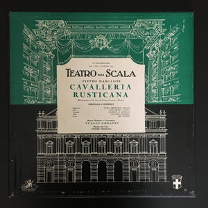 Pietro Mascagni: Cavalleria Rusticana 2 x LP (3-side) box set, mono, with libretto booklet