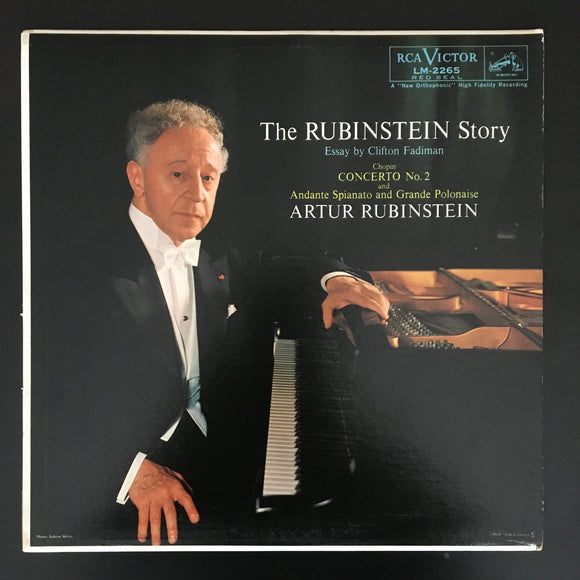 Artur Rubinstein / Frédéric Chopin: The Rubinstein Story LP