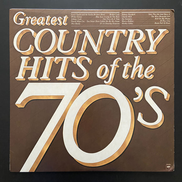 Various Artists: Greatest Country Hits of the 70's LP