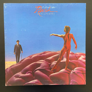 Rush: Hemispheres transparent red vinyl, gatefold, with original poster
