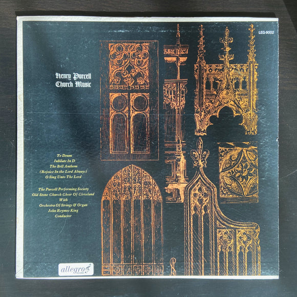 Henry Purcell: Church Music LP