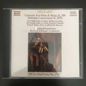 Wolfgang Amadeus Mozart: Concerto for Flute & Harp, K. 299. Sinfonia Concertante K. 297b CD