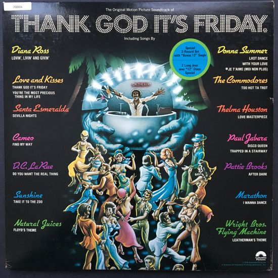Various Artists: The Original Motion Picture Soundtrack of Thank God It's Friday LP