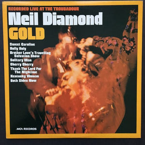 Neil Diamond: Gold: Recorded Live at the Troubadour LP