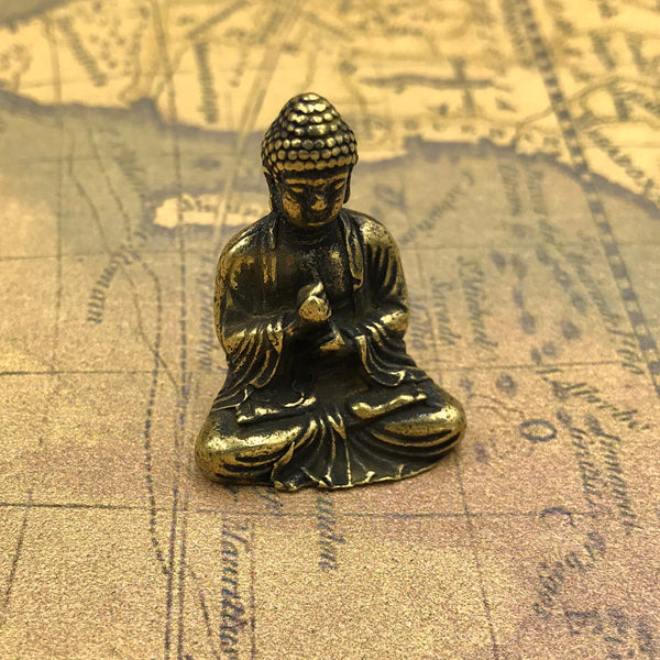 "Vintage Figure ""Lord of Buddha"" India Brass - Metal Field Shop"