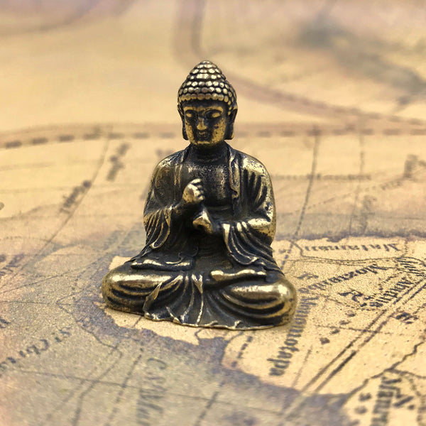 "Vintage Figure ""Lord of Buddha"" India Brass - Metal Field"