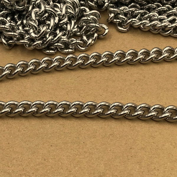 Chain Curb Stainless 9mm - Metal Field