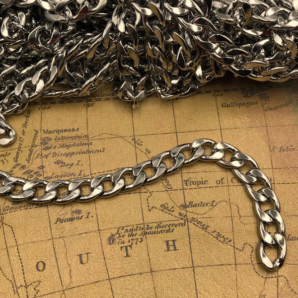 Figaro Stainless Steel Chain 9,5mm - Metal Field