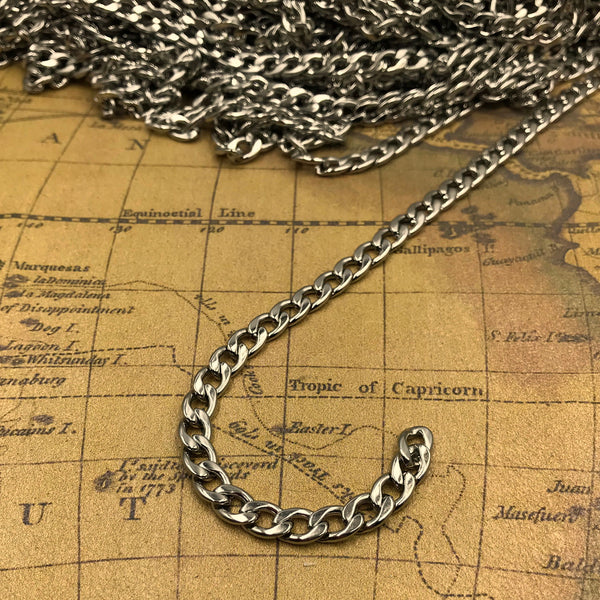 Chain Stainless Steel Figaro 6mm - Metal Field