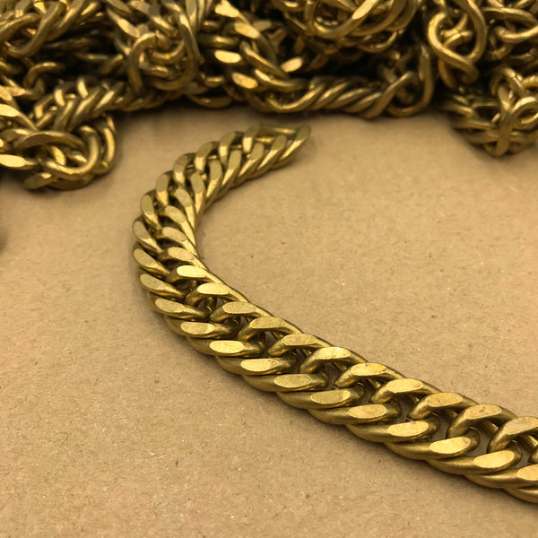 Curb Chain Brass 12mm - Metal Field