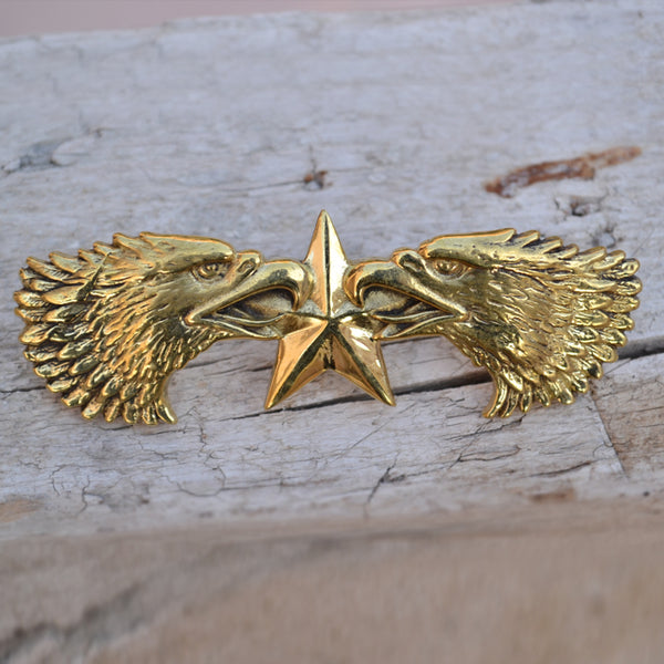 U.S Texas Eagle Concho Screws Back Studs Handmade Leather Work Decoration Rivets Ship From Germany - Metal Field
