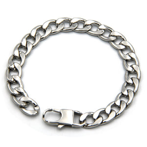 Mens Chain Bracelets Stainless Steel Cool Metal Stylish Accessories Unique Designer - Metal Field