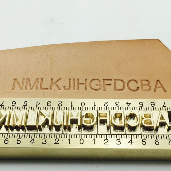 Customized Alphabet Brass Stamp (0-9) (A-Z) Personlized Font Number Logo 5mm - Metal Field