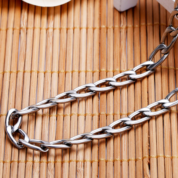 Figaro Chain Silver Stainless Steel 9mm - Metal Field