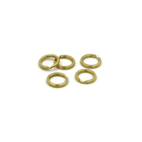 15mm split rings, Solid brass split key rings, Brass split ring - Metal Field