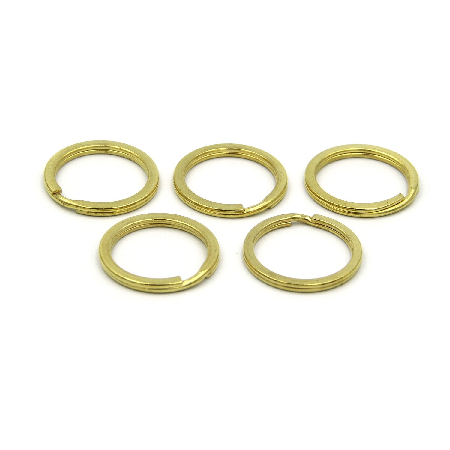 Solid brass split key rings, Large split rings, Brass split rings uk - Metal Field