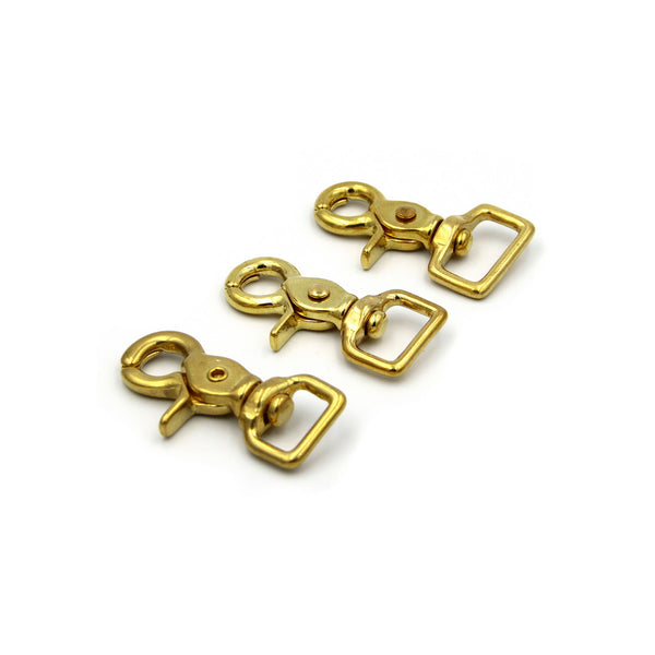 Brass Swivel Snap Hook 16mm - Metal Field