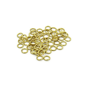 Solid Brass Split Keychain Ring 10 mm - Metal Field