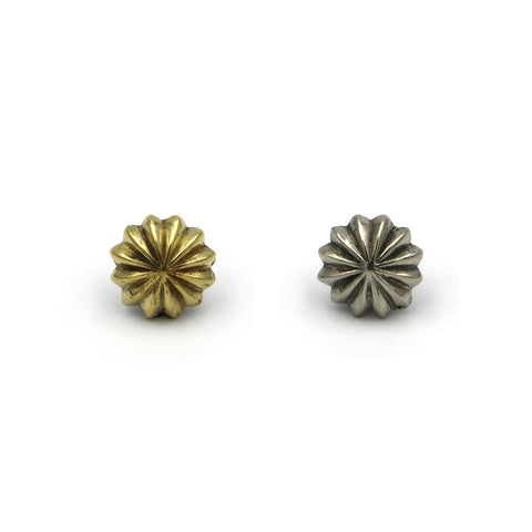 Flower Screw Rivet Conchos 12mm - Metal Field