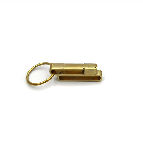 Classic Copper Keychain Holder with Split Ring - Metal Field
