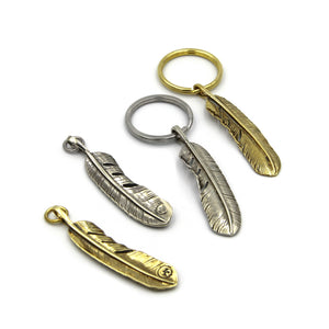 Feather Pendant KeyChain - Metal Field