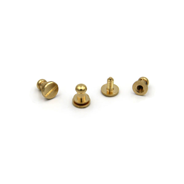 Brass Screw Button 7x5x8 mm - Metal Field Shop