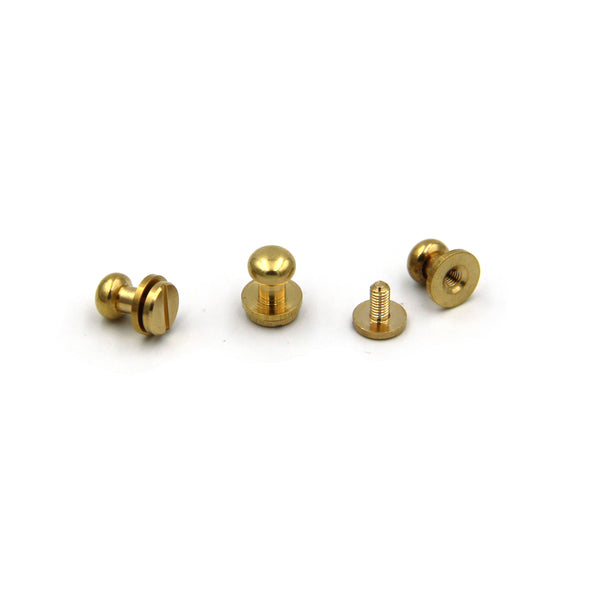 Brass Screw Button 9x7x9 mm - Metal Field