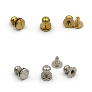 Brass Screw Button 8x6x8 mm - Metal Field Shop