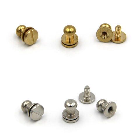 Brass Screw Button 8x6x8 mm - Metal Field