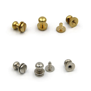 Brass Screw Button 9x7x9 mm - Metal Field Shop
