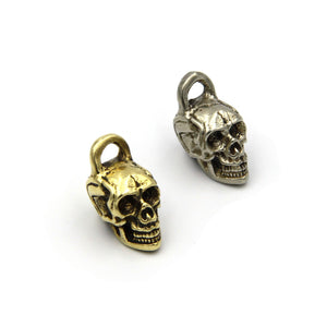 Copper Skull Jewelry Pendants DIY Necklace Paracord Bead - Metal Field