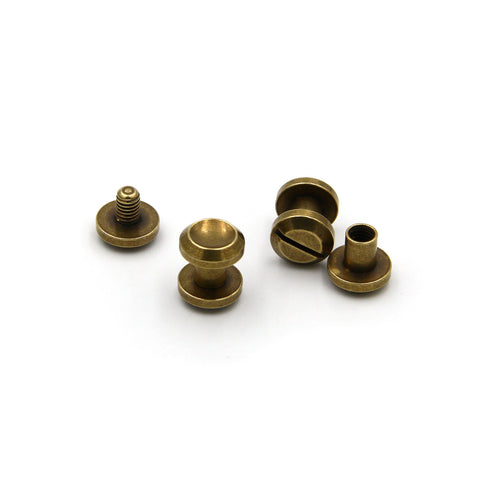 Screwback Chicago Rivets 10x6 mm - Metal Field Shop