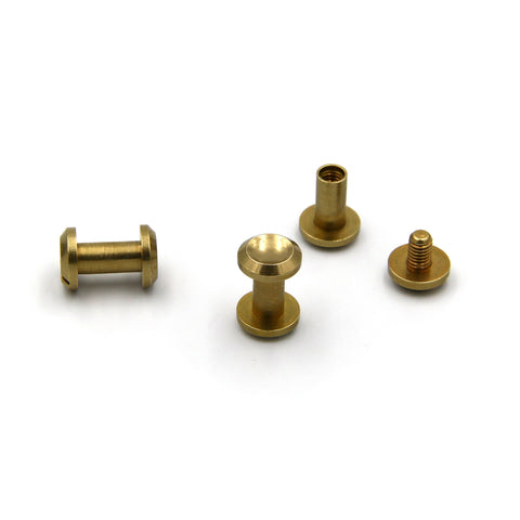 Screwback Chicago Rivets 10x10 mm - Metal Field Shop