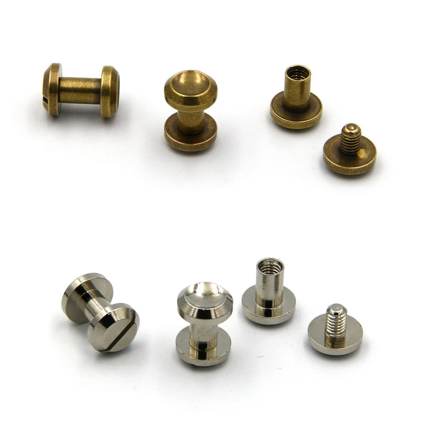 Screwback Chicago Rivets 10x8 mm - Metal Field Shop
