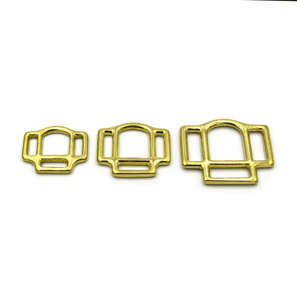 Horse strap adjuster buckle Loop Tool Brass Golden - Metal Field