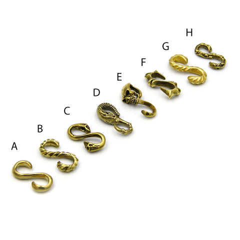 Brass S Hook Connector Bracelet Fitting S Hardware for Leather Craft wholesale DIY Cool - Metal Field