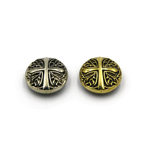 The Crusader Conchos Screwback Stud Handmade Leather Craft Decorations Jewelry Cross Symbol Rivets - Metal Field